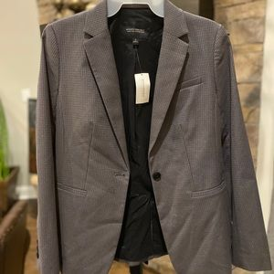 NWT Banana Republic gray and silver suit jacket
